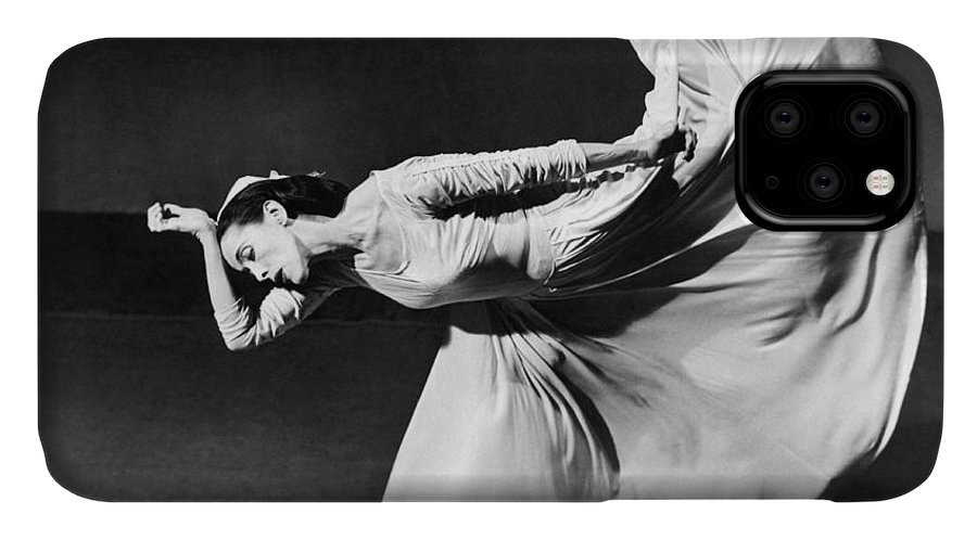 1 Person IPhone Case featuring the photograph Dancer Martha Graham by Underwood Archives