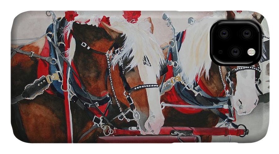 Horse IPhone Case featuring the painting Dandy Duo by Jean Blackmer