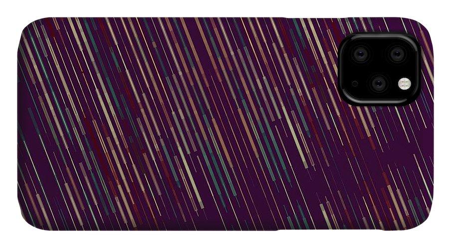 Brandi Fitzgerald IPhone Case featuring the digital art Dark Abstract Bars In Space by Brandi Fitzgerald
