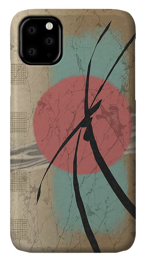 Contemporary Asian Japanese Oriental Abstract Sun Sunrise Sunset G IPhone Case featuring the painting Daybreak by Gordon Beck