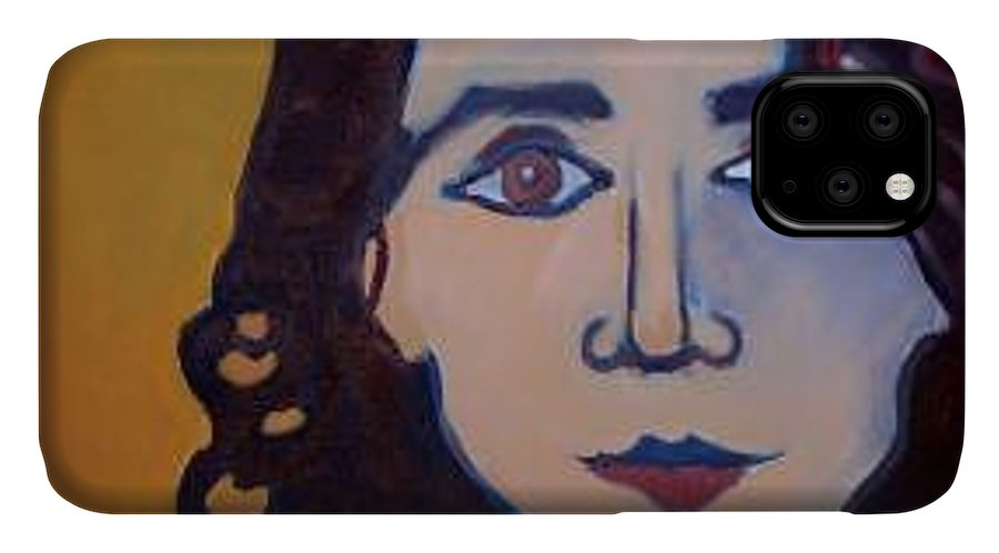 Greek Woman IPhone Case featuring the painting Denise Closeup by Debra Bretton Robinson