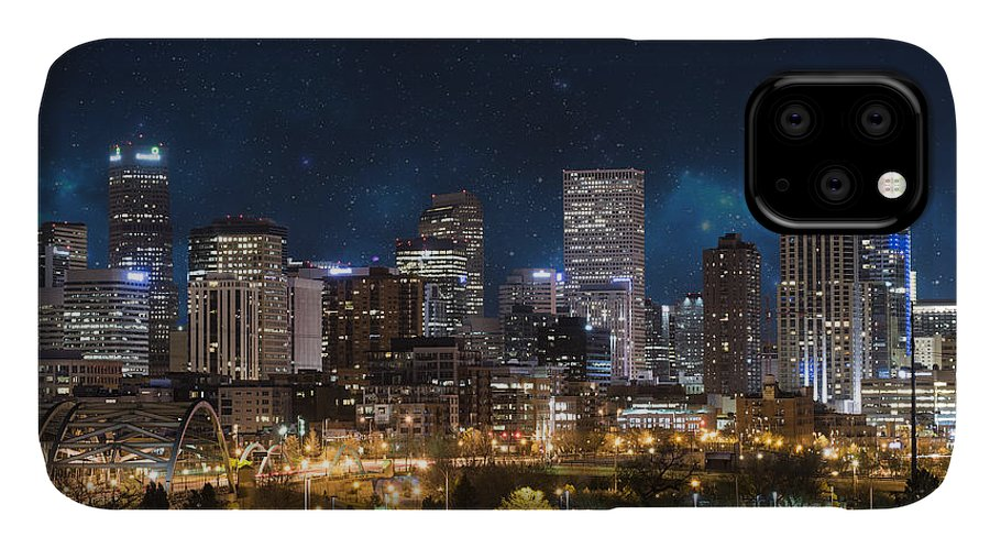 America IPhone Case featuring the photograph Denver Under A Night Sky by Juli Scalzi