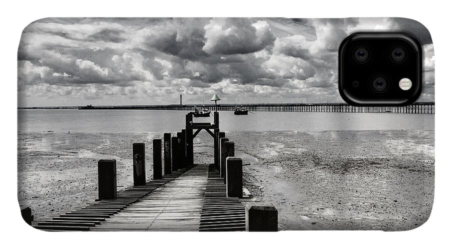 Wharf Southend Essex England Beach Sky IPhone Case featuring the photograph Derelict Wharf by Sheila Smart Fine Art Photography
