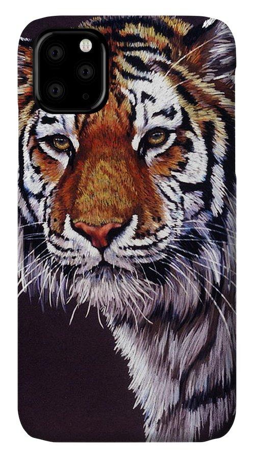 Tiger IPhone Case featuring the drawing Desperado by Barbara Keith