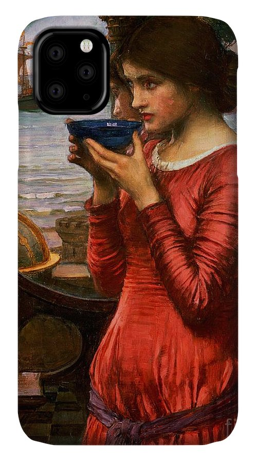 Boat; Globe; Poison; Blue Glass; Pre-raphaelite; Allegorical; Red Dress IPhone Case featuring the painting Destiny by John William Waterhouse