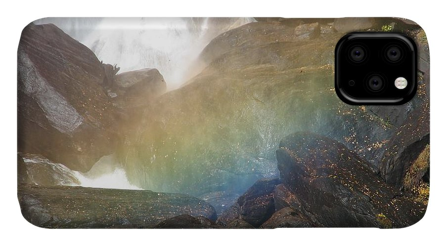 Devil's Fork IPhone 11 Case featuring the photograph Devil's Rainbow by Kelly Mezzapelle
