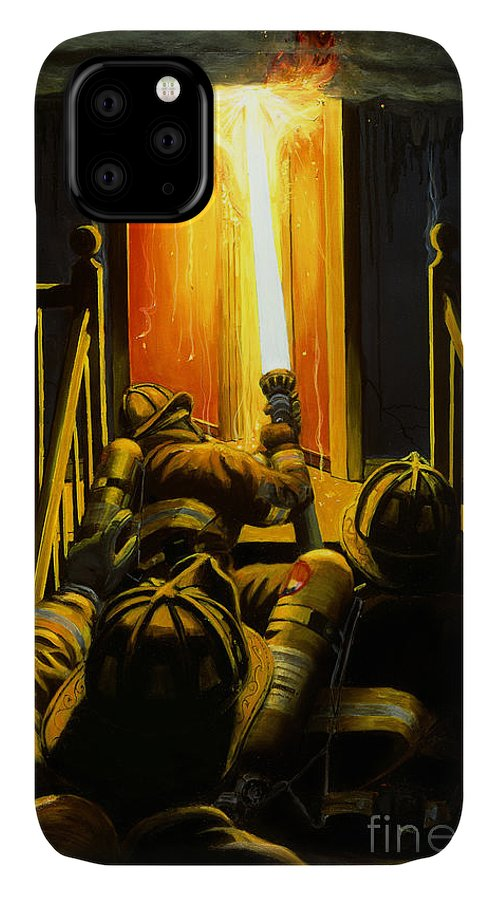 Firefighting IPhone Case featuring the painting Devil's Stairway by Paul Walsh