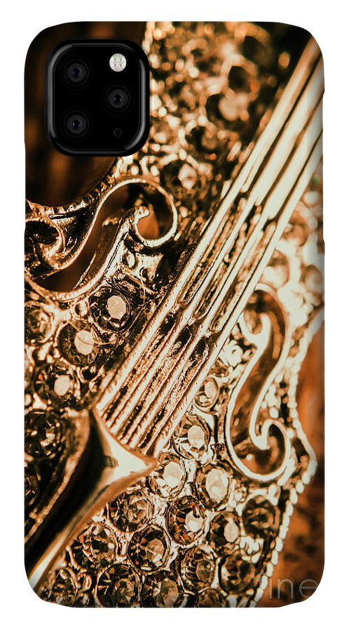 Violin IPhone Case featuring the photograph Diamond Ensemble by Jorgo Photography - Wall Art Gallery