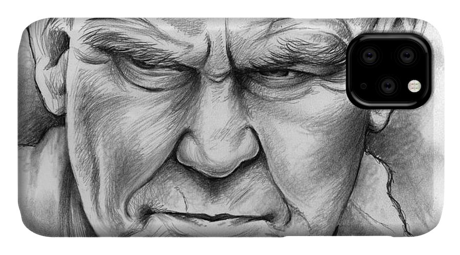 Doc Watson IPhone Case featuring the drawing Doc Watson by Greg Joens