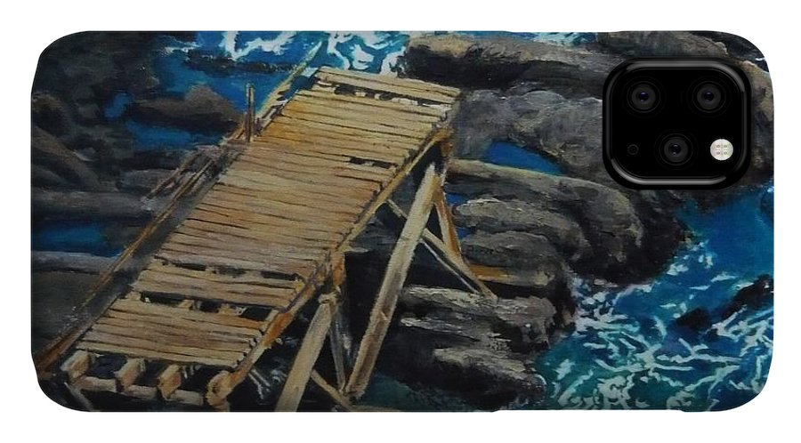 Dock IPhone Case featuring the painting Dock by Travis Day