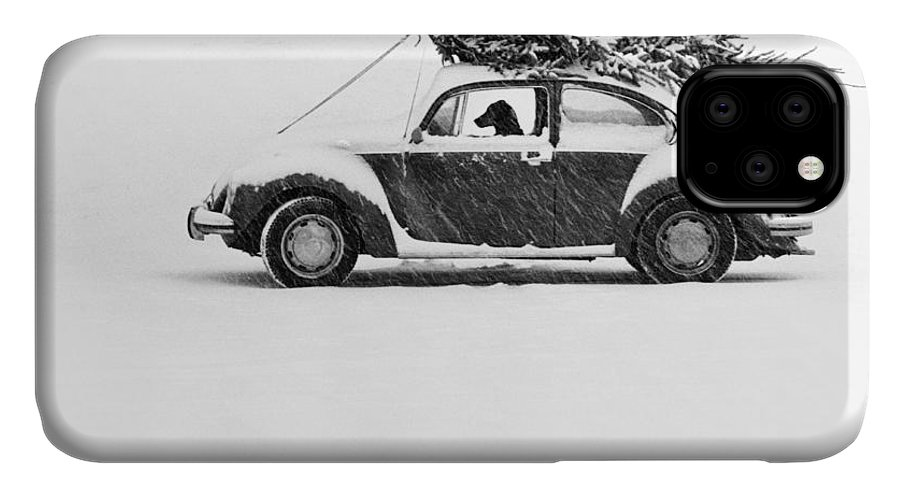 Animal IPhone Case featuring the photograph Dog In Car by Ulrike Welsch and Photo Researchers