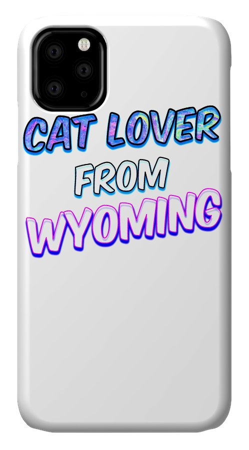 Cat IPhone Case featuring the digital art Dog Lover From Wyoming by Kaylin Watchorn