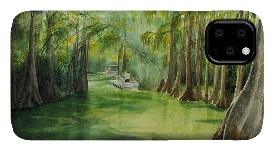 Passage Between Lakes IPhone Case featuring the painting Dora Passage by Judy Swerlick