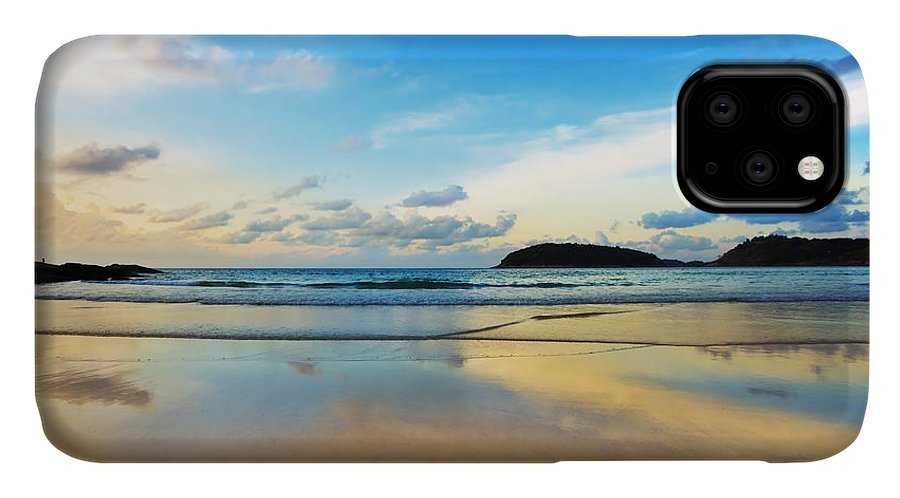 Area IPhone Case featuring the photograph Dramatic Scene Of Sunset On The Beach by Setsiri Silapasuwanchai