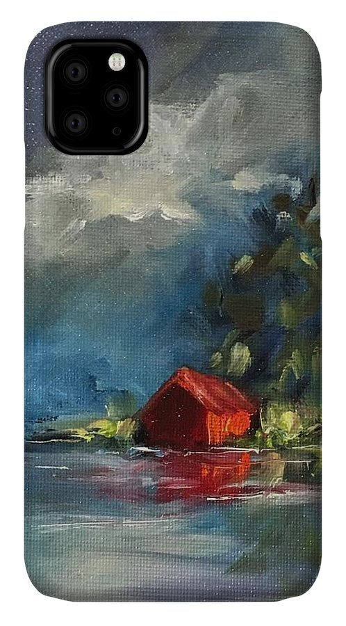 Barn IPhone 11 Case featuring the painting Dreams Realy Do Come True by Angela Sullivan