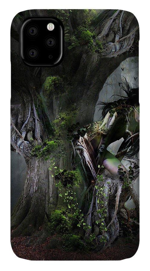 Tree IPhone Case featuring the digital art Dryad's Dance by Karen Koski