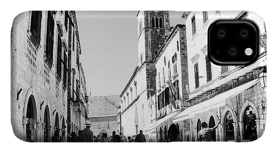Beautiful IPhone Case featuring the photograph #dubrovnik #b&w #edit by Alan Khalfin