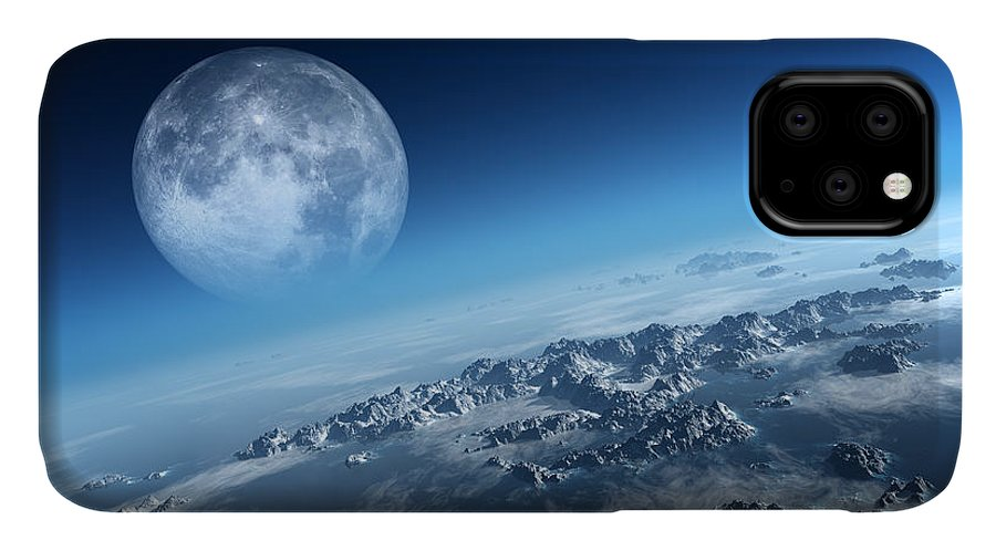 Earth IPhone Case featuring the photograph Earth Icy Ocean Aerial View by Johan Swanepoel