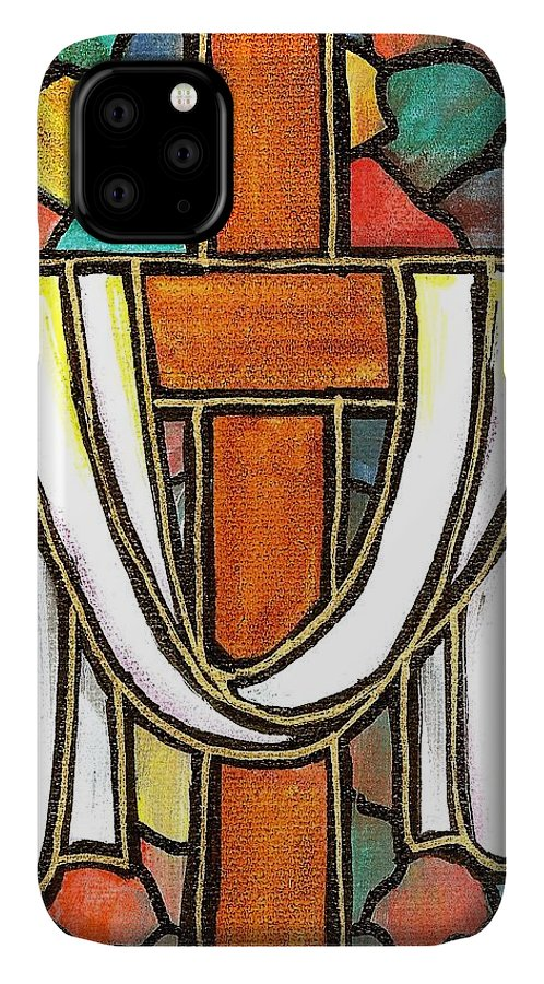 Easter IPhone Case featuring the painting Easter Cross 6 by Jim Harris