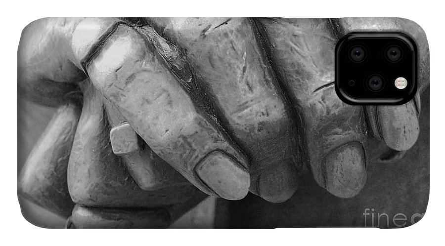 Elderly IPhone Case featuring the photograph Elderly Hands by Jost Houk