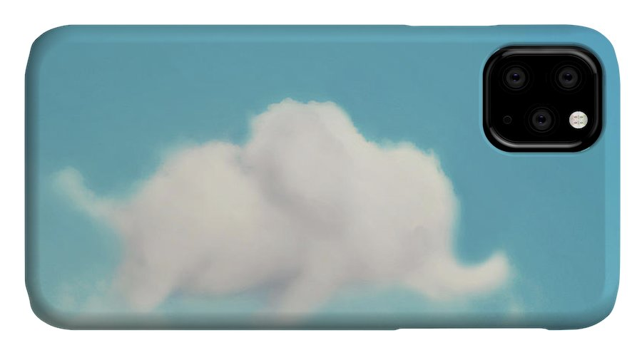 Cloud Photography IPhone 11 Case featuring the photograph Elephant In The Sky by Amy Tyler