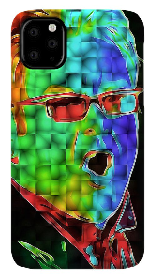 Elton IPhone Case featuring the digital art Elton John in Cubes 2 by Yury Malkov