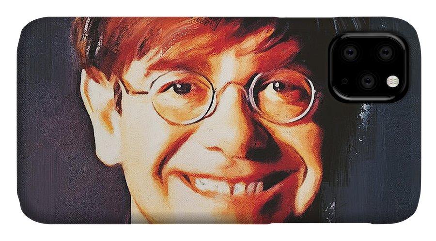 Elton IPhone Case featuring the digital art Elton john young portrait by Yury Malkov
