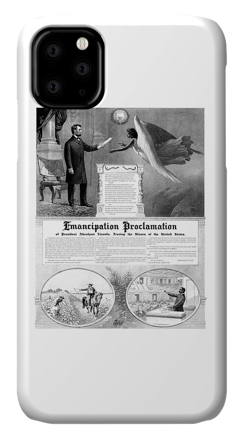 Emancipation Proclamation IPhone Case featuring the mixed media Emancipation Proclamation by War Is Hell Store