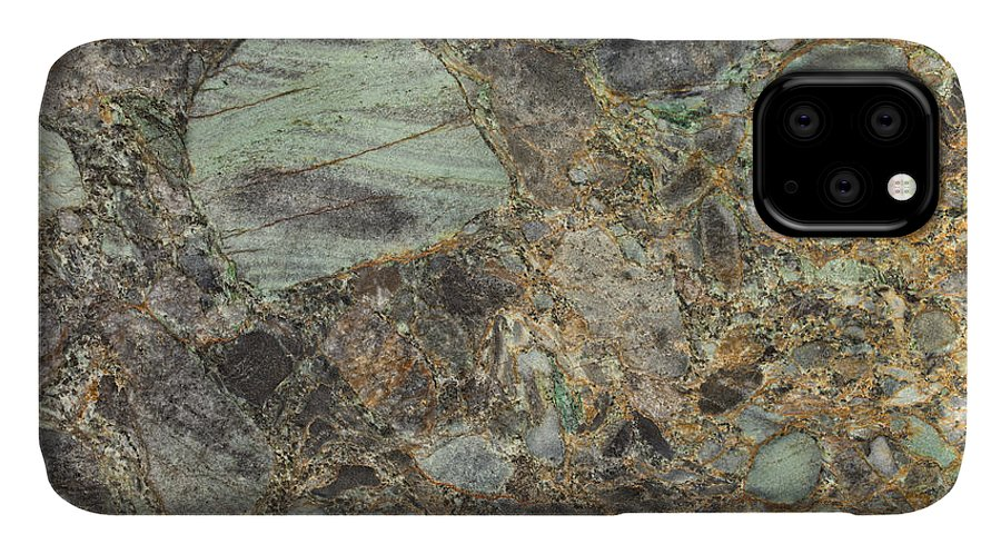 Granite IPhone Case featuring the photograph Emerald Green Granite by Anthony Totah