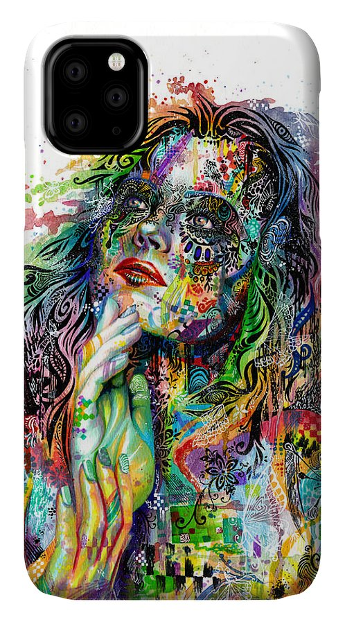 Dream IPhone Case featuring the painting Enigma by Callie Fink