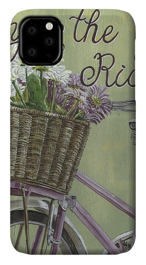 Bike IPhone Case featuring the painting Enjoy The Ride by Debbie DeWitt
