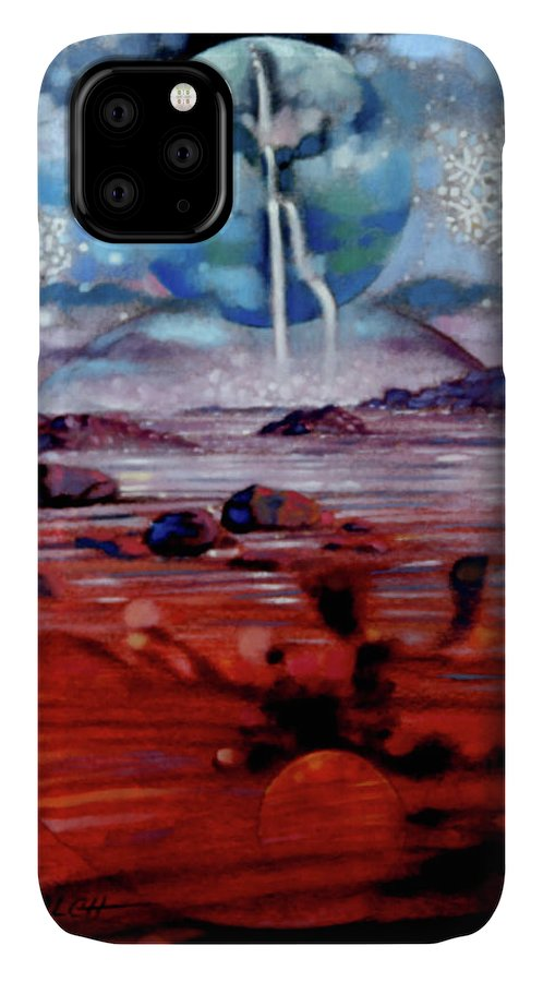 Planets IPhone Case featuring the painting Eternal Creation by John Lautermilch