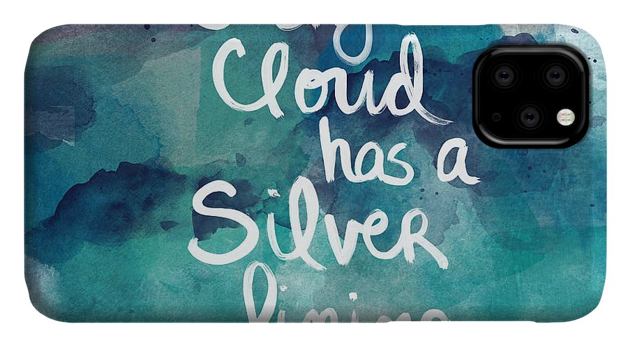Cloud IPhone Case featuring the painting Every Cloud by Linda Woods