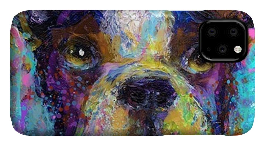 Contemporary IPhone Case featuring the photograph Expressive Boston Terrier Painting By by Svetlana Novikova