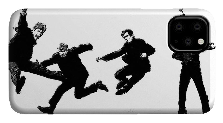 The Beatles IPhone Case featuring the painting Fab by Tony Rubino