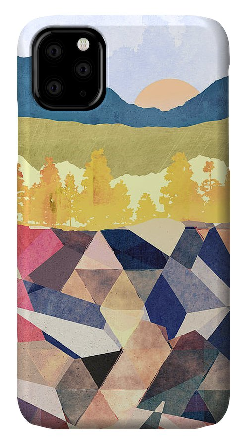 Fall IPhone 11 Case featuring the digital art Fall Afternoon Light by Spacefrog Designs