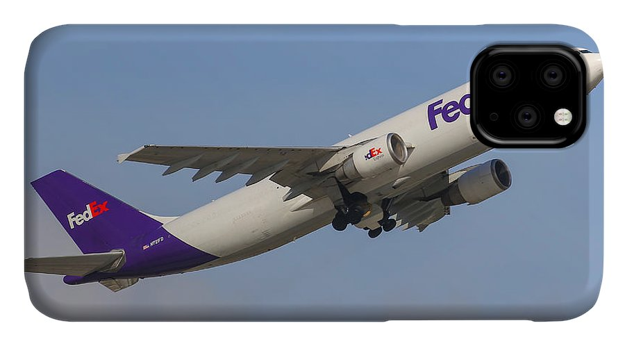 Aviation IPhone Case featuring the photograph FedEx Airplane by Dart and Suze Humeston