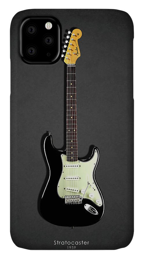 Fender Stratocaster IPhone Case featuring the photograph Fender Stratocaster 59 by Mark Rogan