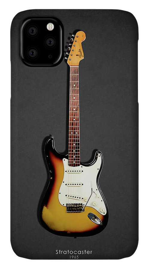 Fender Stratocaster IPhone Case featuring the photograph Fender Stratocaster 65 by Mark Rogan