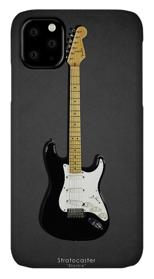 Eric Clapton IPhone Case featuring the photograph Fender Stratocaster Blackie 77 by Mark Rogan