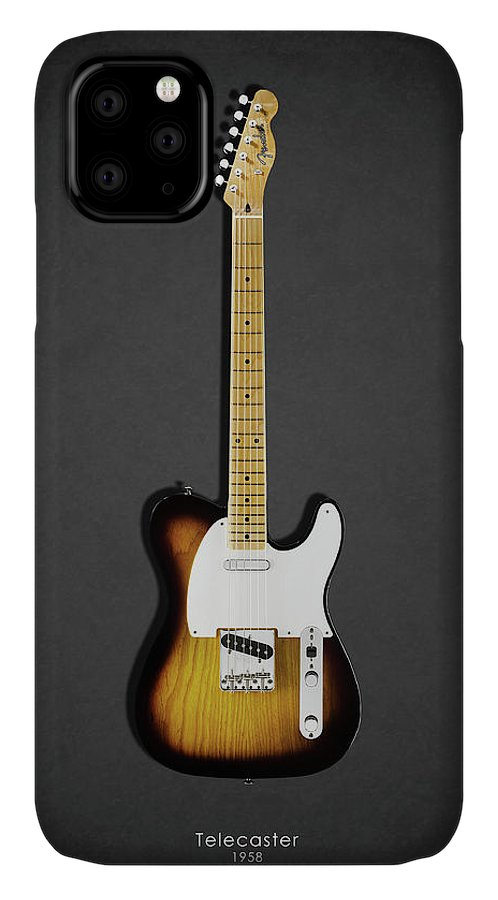 Fender Telecaster IPhone Case featuring the photograph Fender Telecaster 58 by Mark Rogan