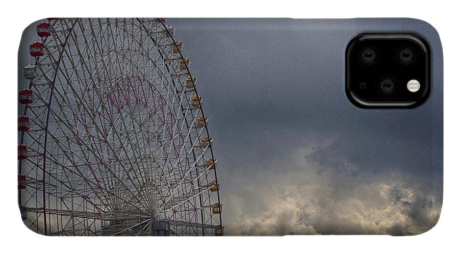 Cloud IPhone Case featuring the photograph Ferris Wheel by Tad Kanazaki