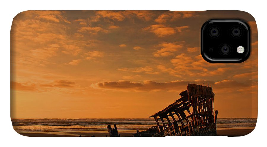 Peter Iredale IPhone Case featuring the photograph Final Resting Place by Dan Mihai