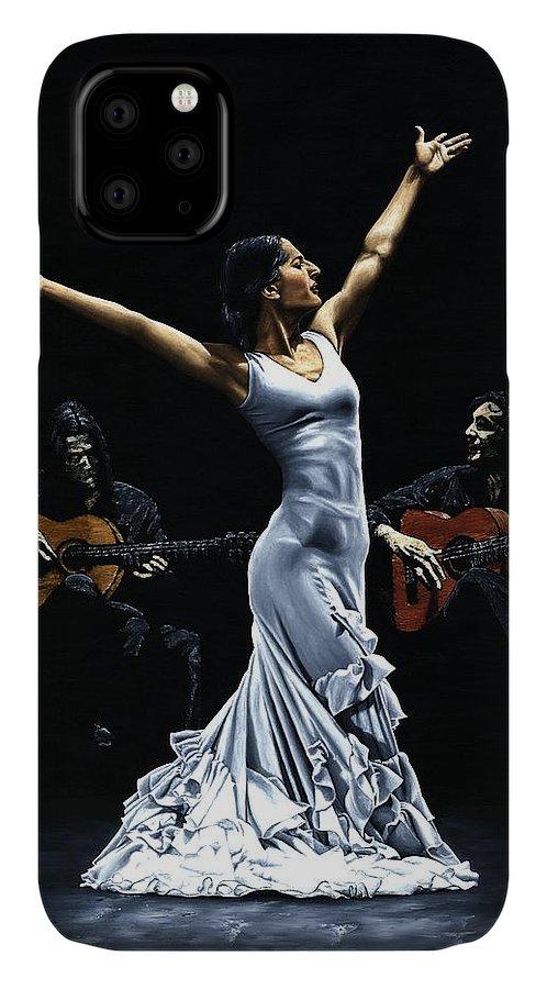 Flamenco IPhone Case featuring the painting Finale del Funcionamiento del Flamenco by Richard Young