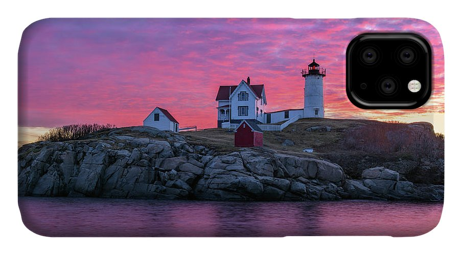 Cape Neddick IPhone 11 Case featuring the photograph First Blush by Michael Blanchette