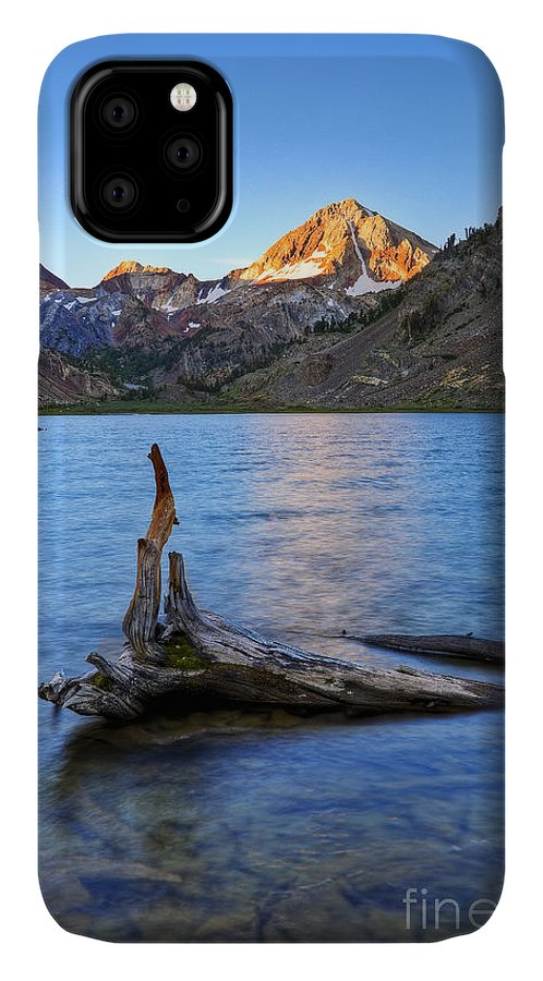 California IPhone 11 Case featuring the photograph First Light On Red Slate Mountian by Greg Clure