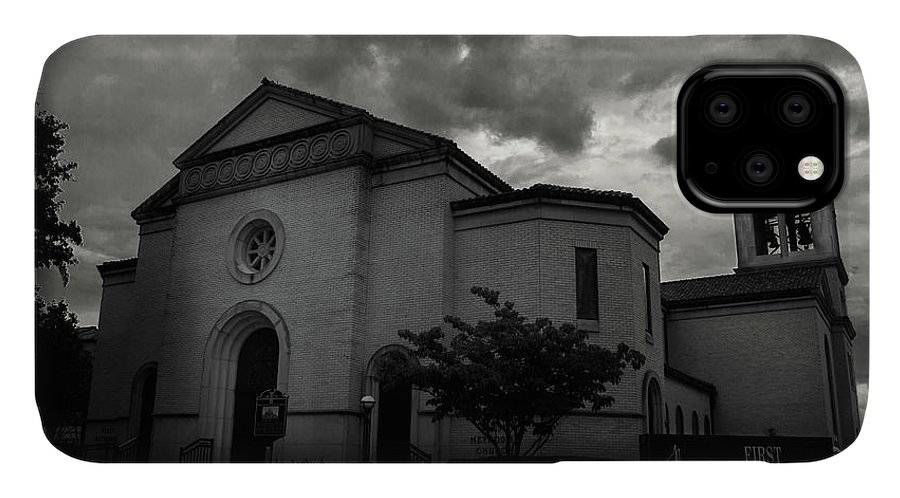 City Of Longview IPhone Case featuring the photograph First United Methodist Church Longview by Eugene Campbell