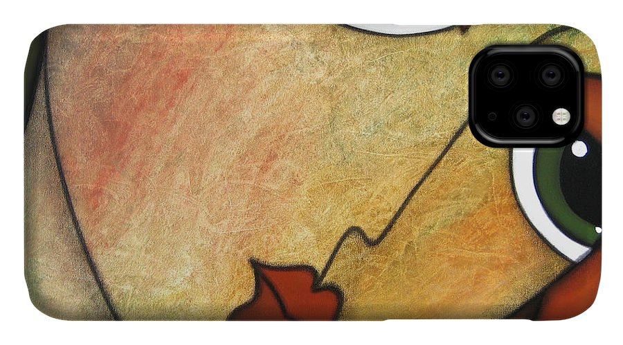 Pop Art IPhone Case featuring the painting Flawless by Tom Fedro - Fidostudio