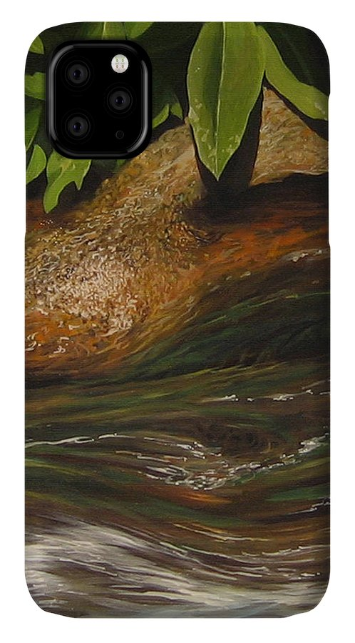 Colorado Mountain Stream IPhone Case featuring the painting Flow by Hunter Jay