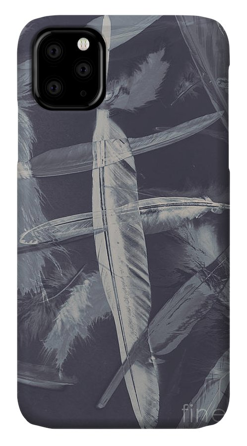 Natural IPhone Case featuring the photograph Flying Featherabstract Background by Jorgo Photography - Wall Art Gallery